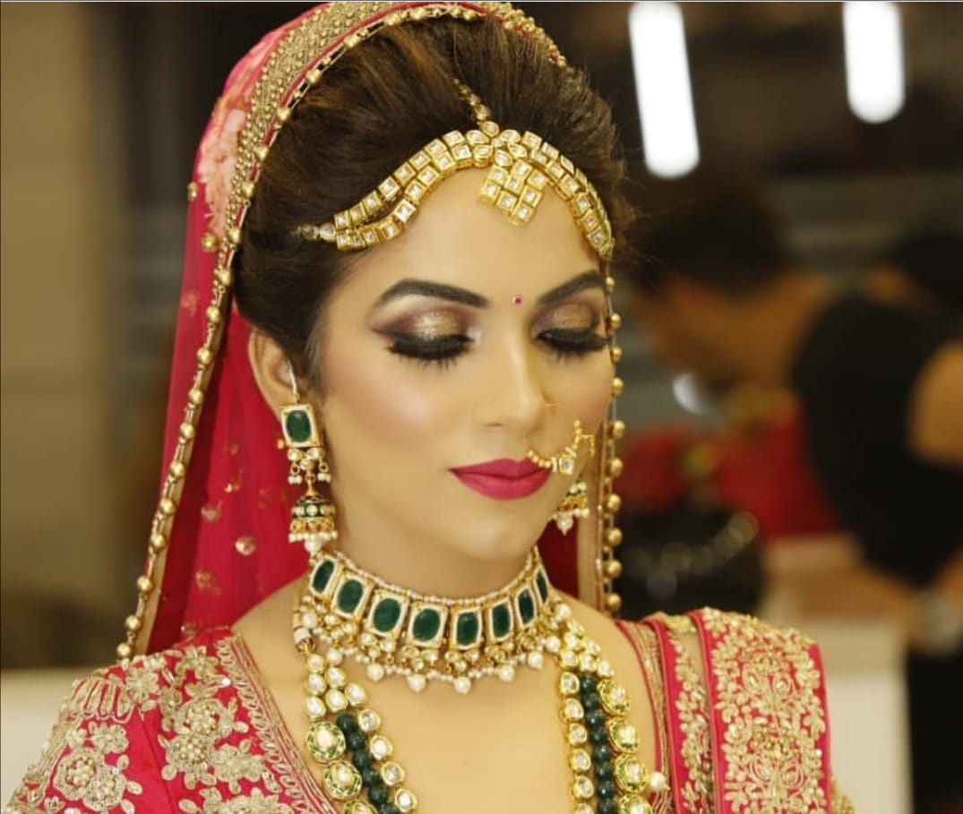 Bridal Hairstyle in Ghanerao